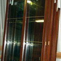 Деревянное окно ОД ОСП 1500 х 1800 ГОп двухстворчатое ОД ОСП 1470 х 1770 мм, Створки: глухая, поворотно-откидная правая