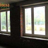 Деревянное окно ОД ОСП 1500 х 2100 ГГ двухстворчатое ОД ОСП 1470 х 2070 мм, Створки: глухие