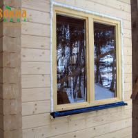 Деревянное окно ОД ОСП 1500 х 2100 ГОп двухстворчатое ОД ОСП 1470 х 2070 мм, Створки: глухая, поворотно-откидная правая