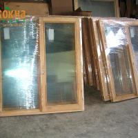 Деревянное окно ОД ОСП 1500 х 2100 ПлОп двухстворчатое ОД ОСП 1470 х 2070 мм, Створки: поворотная левая, поворотно-откидная правая