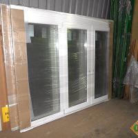 Деревянное окно ОД ОСП 900 х 1350 ГОпГ трехстворчатое ОД ОСП 870 х 1320 мм, Створки: глухая, поворотно-откидная правая, глухая