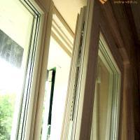 Деревянное окно ОД ОСП 900 х 1500 ГГГ трехстворчатое ОД ОСП 870 х 1470 мм, Створки: глухие