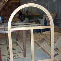 Деревянное окно ОД ОСП 900 х 1500 ГПпГ трехстворчатое ОД ОСП 870 х 1470 мм, Створки: глухая, поворотная правая, глухая