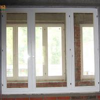 Деревянное окно ОД ОСП 1200 х 1350 ГГГ трехстворчатое ОД ОСП 1170 х 1320 мм, Створки: глухие
