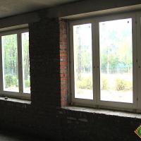 Деревянное окно ОД ОСП 1200 х 1350 ГПпГ трехстворчатое ОД ОСП 1170 х 1320 мм, Створки: глухая, поворотная правая, глухая