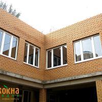 Деревянное окно ОД ОСП 1200 х 1350 ПлГПп трехстворчатое ОД ОСП 1170 х 1320 мм, Створки: поворотная левая, глухая, поворотная правая