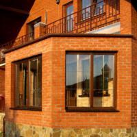 Деревянное окно ОД ОСП 1200 х 1350 ПлГОп трехстворчатое ОД ОСП 1170 х 1320 мм, Створки: поворотная левая, глухая, поворотно-откидная правая