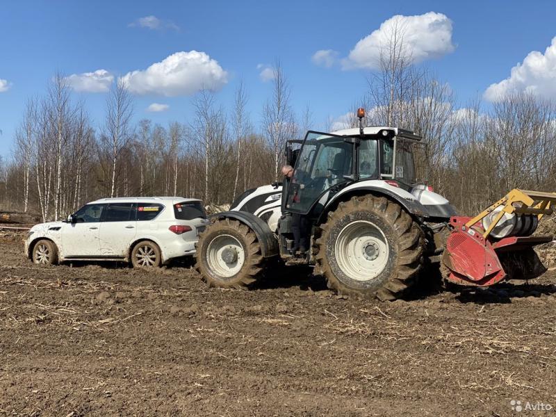Расчистка полей от деревьев и корней