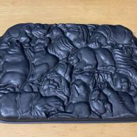 Чугунная форма для выпечки бисквитов / кексов / печенья в виде 12 животных (США) Материал - чугун