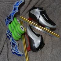 Беговые коньки и роликовая система Состояние: новое. Размер: 43-44
