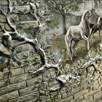 Роспись стен, барельеф, граффити, картины Художественное оформление стен на itebe.ru [3]