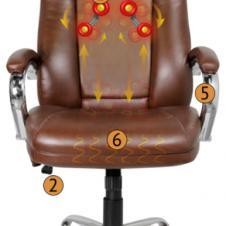 Офисное массажное кресло Yamaguchi Prestige Удобное кресло которое ещё и массажирует